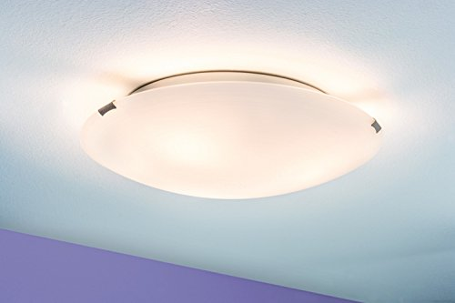 Ceiling lamp, Cecilia, max. 2x60 W Wiped, satin, metal, glass