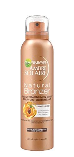 Garnier ambre solaire - spray autoabbronzante per un'abbronzatura naturale con estratto di albicocca (testato dermatologicamente), 1 confezione da 150 ml