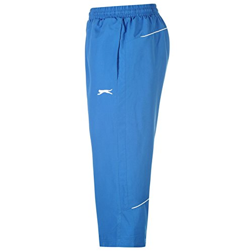 Slazenger Herren Dreiviertel Hose 3/4 Sporthose Trainingshose Jogginghose Shorts Königsblau