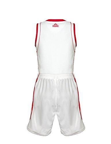 Peak Sport Europe, Set canotta e pantaloncini da basket Uomo Bianco - Bianco/Rosso