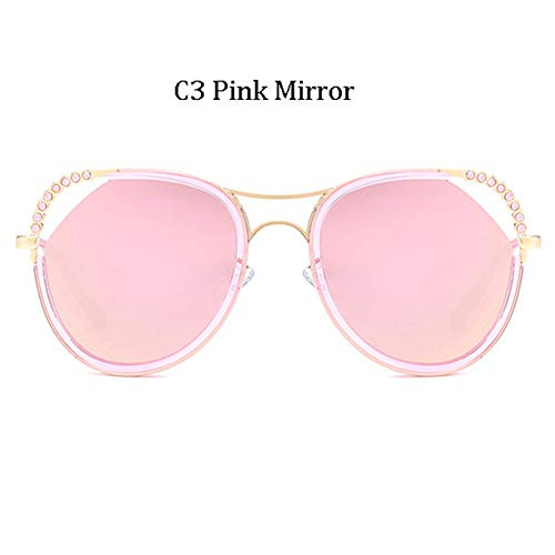 Kjwsbb Fashion Hot Big Frame Diamant Sonnenbrille FrauenMarkendesigner MulticolorSonnenbrille