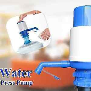 Jannat Plastic Manual Hand Press Bottled Pump Water Dispenser , Standard, Multicolour