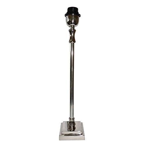 Better & Best 0128313 - Lámpara de mesa con base cuadrada escalonada, color plateado
