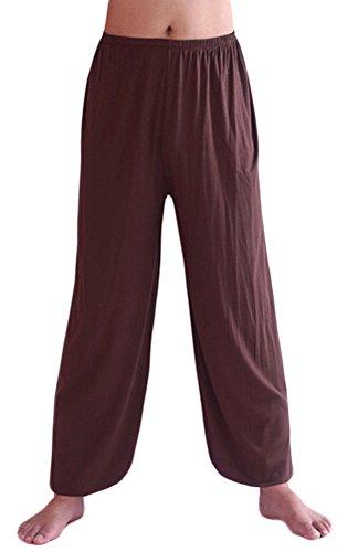 AvaCostume Leichte Yogahose für Herren, lockere Passform, elastische Taille, Modal, Yoga Haremshose