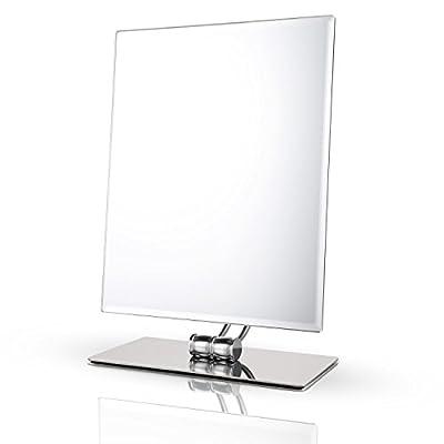 Miusco Tabletop Vanity Makeup Mirror , Rectangle 10.2X8.3 Inch, Chrome