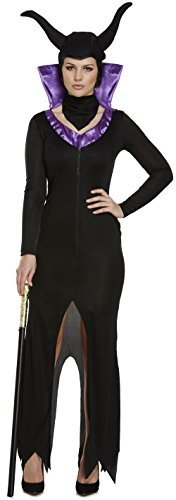 Damen 3 Piece Böse Königin Halloween Horror Villain Descendants Carnival Kostüm Kleid Outfit 8-10-12