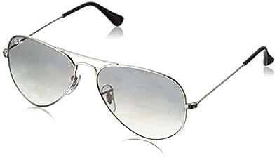 Ray-Ban Aviator, Occhiali da Sole Unisex Adulto, Argento (Silber 003/32), 55 mm