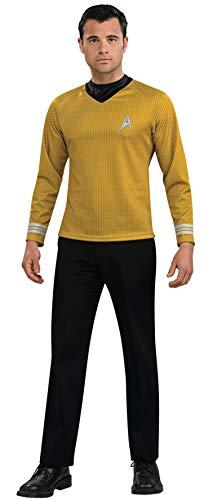 Captain Kirk Herrenkostüm aus Star Trek, Farbe: Gold, Größe:L