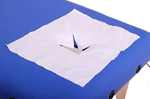 Einweg Nasenschlitztuch für die Massageliege 100 Stück Massagezubehör Gesichtsauflage für Massagetische mit Gesichtsloch Einwegauflage Hygieneauflage