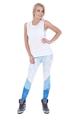 Fringoo - Legging de sport - Femme Taille Unique ceBerg