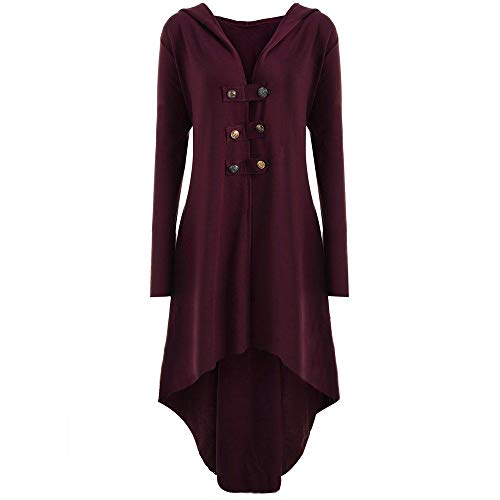 Steampunk Damen Mantel   Frauen Vintage Gothic Spitzen Steampunk Korsett Kleid Kostüm Eleganter Smoking-Blazer V-Ausschnitt Langarm Bluse ()