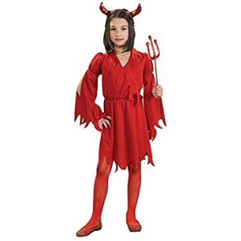 Devil - Disfraz de halloween diablo para niña, talla S