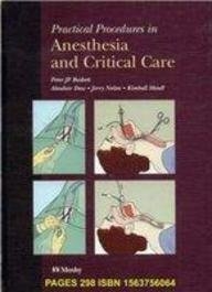 Practical Procedures in Anesthesia and Critical Care, 1e by Peter J. F. Baskett FRCA FRCP FFAEM (1994-11-26)