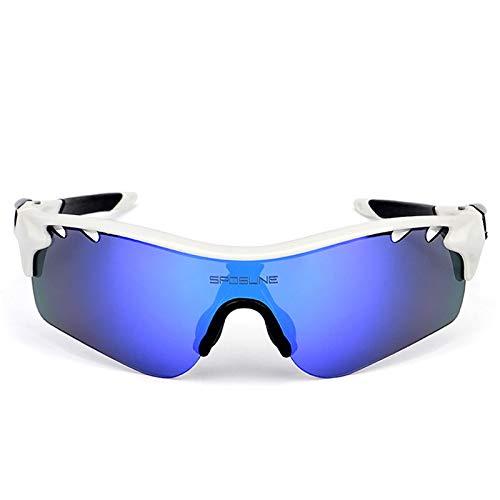 Daesar Arbeitsbrille Antibeschlag Motorrad Brille für Herren Weiß Sonnenbrille
