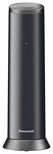 Panasonic KX-TGK220GM Design-Telefon mit Anrufbeantworter & Wecker, Haustelefon (schnurlos), HD-Telefonie, Graphit (matt)