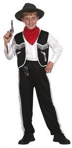 Patry-Partners 86864 Kinder-Kostüm Cowboy und Hut, 4-6 Jahre -Western-Bandit-