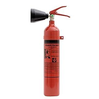 Feuerlöscher 2 kg CO² Kohlendioxid | EDV geeignet | DIN EN 3 + ANDRIS® Prüfnachweis mit Jahresmarke inkl. ISO-Symbolschild & GRATIS Textschild,Für EDV'