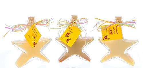 Lexie´s cremige Sahne-Sternchen, Weihnachtslikör zu Advent, Weihnachten, im Winter - ein herrlicher Genuss17-20% vol. Alk 3x100ml