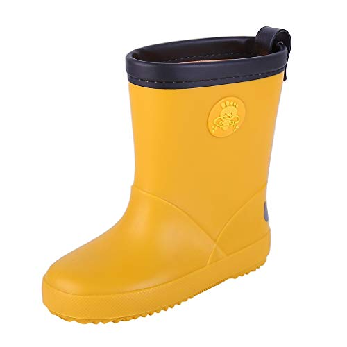 BaojunHT Children´s Rubber Wellington Boots with Reflective Strip Design