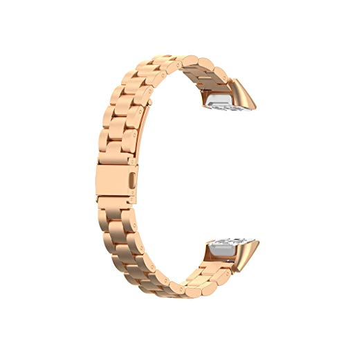 htfrgeds Kompatibel mit Samsunq Galaxv Fit Fashion Wristbands Damenuhrenarmband Armband aus Edelstahl und Harz Ersatzarmband Armband Metallverschluss Sport Edition