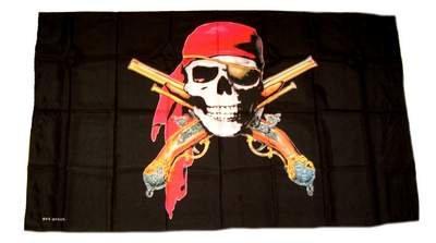 istolen 30 x 45 cm FLAGGENMAE® (Piraten Wasser Pistole)