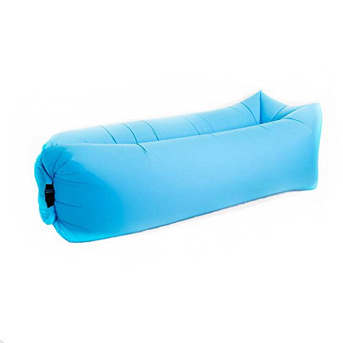 Air Lounger, Camilla hinchable sofá portátil compresión Air camas, Exterior Agua Densidad Air sofá hinchable para camping, playa, Park,–Azul