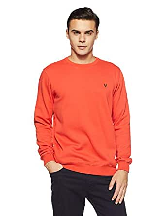 Allen Solly Men's Sweatshirt (ASSTORGPF16842S_Orange 17-1558 TCX)