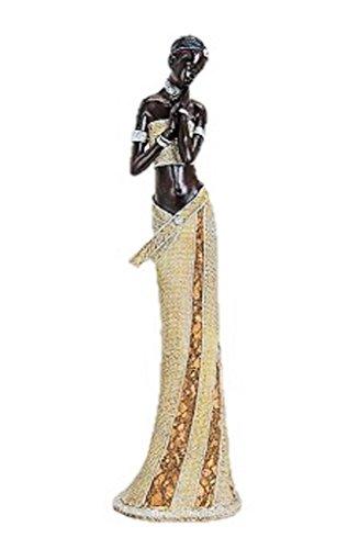 Frauen Afrikanische Figuren (Afrikanerin 42cm große afrikanische Frauen Figur Afrika)