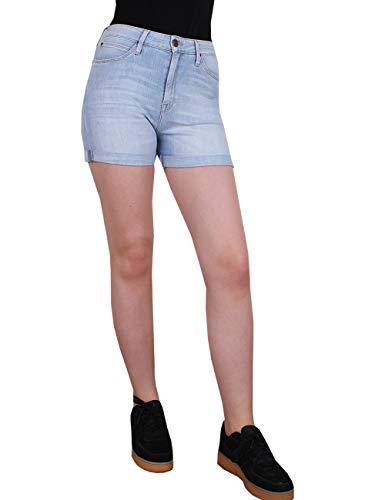 Lee Damen Jeans Short Mom - Relaxed Fit - Blau - Realworn Custom, Größe:W 29, Farbe:Realworn Custom (KTWE)