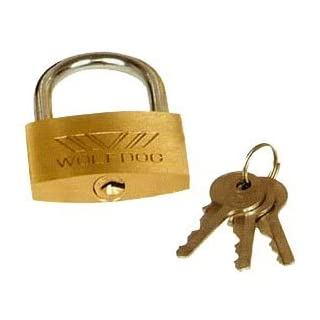 AAJ Brass Padlock 50MM (Ideal for Garage, Shed Gate Locker, Suitcase, Toolbox)
