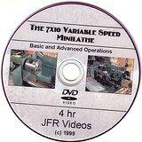 7 x 10 Variable Speed Mini Lathe (4 Hour DVD)