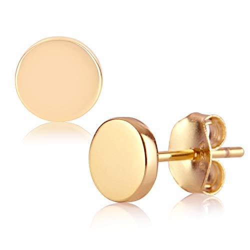 BRANDLINGER SCHMUCK. Ohrringe Gold aus 925 Sterling Silber und 14K Gold und Weissgold Plattierung. Handgearbeitete Ohrstecker, designed in Deutschland. ()