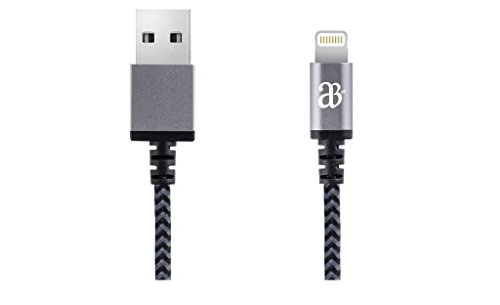 Price comparison product image iOS 9 & 8 Certified Metallic color Braided Fabric Style Lightning Cable for Phone 6 iPhone 5 5s iPad Lightning Certified USB Charger Cable Data Sync iOS 8 9 Certified Compatible - 1 Meter Space Grey [Lifetime Warranty]