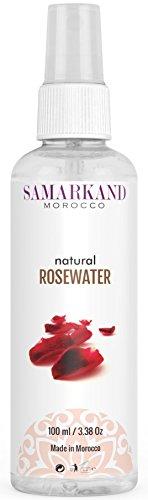 Eau de Rose Marocaine 100% Pure & Naturelle (Spray Taille Voyage) - Lotion Tonifiante Visage Artisanale 100 ml