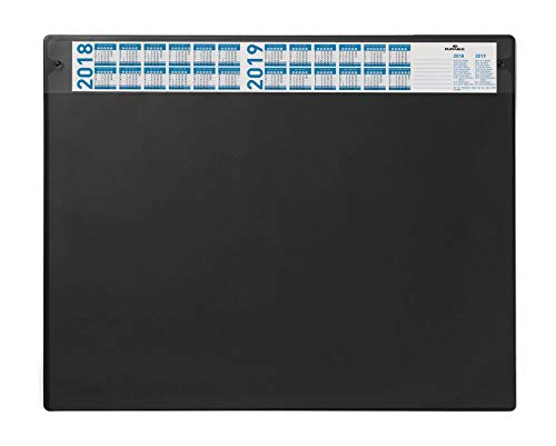 Durable 720501 Schreibunterlage (mit austauschbarer Abdeckung, 650 x 520 mm) 1 Stück schwarz