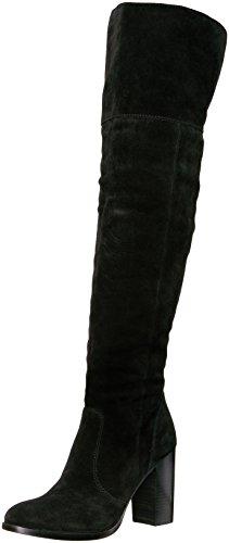 FRYE Women's Claude OTK Suede Slouch Boot, Black, 9.5 M US - Black Suede Slouch Boots