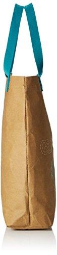 Glück Ahoi Einkaufstasche veganes Leder Braun (Braun (papierbraun))