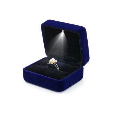 Diamantring High-End-Schmuckschatulle mit Lichtern, Ehering-Box, Ring-Box, Heiratsantrag, Geschenk, leere Box