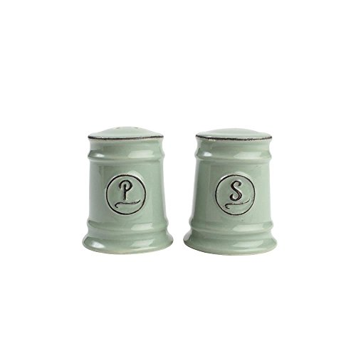 T&G Woodware Pride of Place Salt and Pepper Shaker Set, Old Green by T&G Woodware Salt Shaker Set