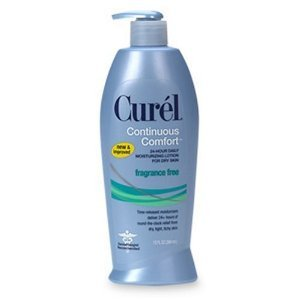 Curel Continuous Comfort 24-Hour Daily Moisturizing Lotion for Dry Skin, Fragrance Free, 13-Ounce Dispenser by Curel