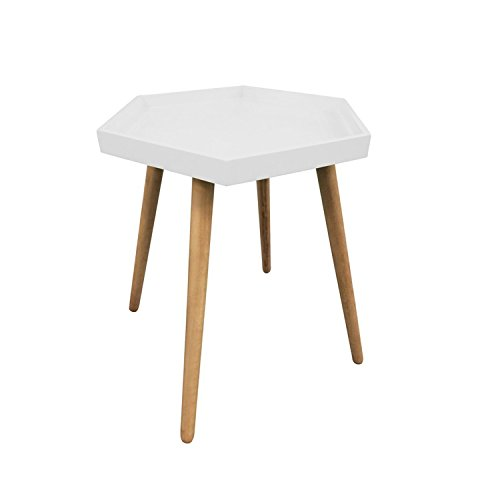 The concept factory Table plateau hexagonale - Blanche