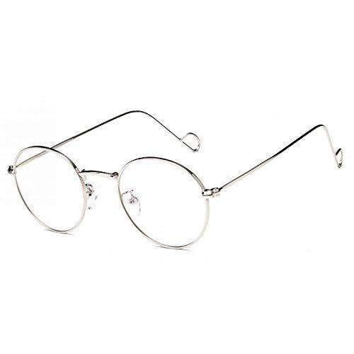 YMTP Metall Aviation Medium Sonnenbrille Rahmen Männer Pilot Brille Für Verschreibungspflichtige Sonnenbrillen Fahren Multifocal Linsen, Silber