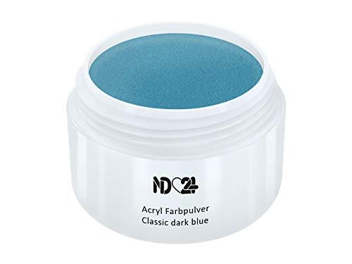 Acryl Farbpulver Classic dark blue BLAU - nd24 BESTSELLER - Feinstes FARB Acryl-Puder Acryl-Pulver Acryl-Powder - STUDIO QUALITÄT