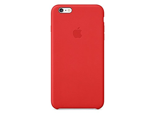 Apple MGQY2ZM/A Leder Hülle geeignet für iPhone 6 Plus / 6S Plus, Hellrot (Cover Für Iphone 6 Plus)