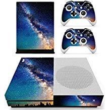 eseeking ganzen Körper Vinyl Haut Aufkleber Aufkleber Cover für Microsoft Xbox One Slim Konsole blau Sternenhimmel Galaxy Nebular (Galaxy Vinyl-aufkleber)