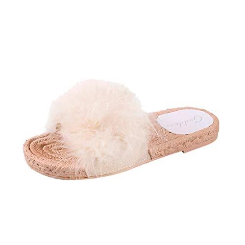 ❤️ Plüsch Mode Damen Hausschuhe, Amlaiworld Flauschige Herbst Frühling Classic Slipper Freizeit Vintage Schuhe Geschäft flach Sandalen Mokassins