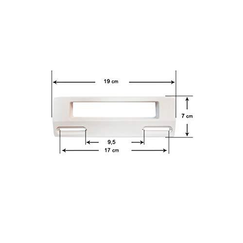 Recamania Tirador Blanco Puerta Frigorífico Universal 19x7 cm (Distancia Entre Agujeros 9,5 a 17 cm)