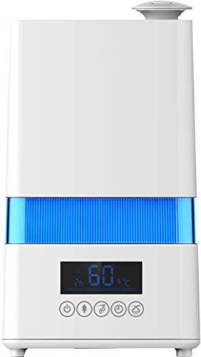 Ardes AR8U20 Umidificatore Igrometro Ionizzatore NEBULO DIGITAL ad Ultrasuoni 30 W Capacità 4,5 Litri 4 Livelli di Vapore Pulito Display LED Timer 12 Ore