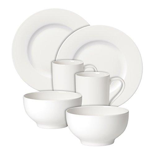 Villeroy & Boch For Me Frühstücksservice für 2 Personen, Premium Porzellan, weiß Frühstück Becher-set