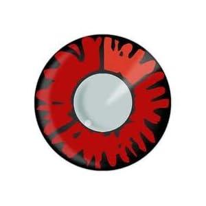 84021 1 Paare(2 Linsen) Kontaktlinsen linsen farbig rot twilight vampir werewolf halloween kostüme neu + 1 Flasche Lösung gratis